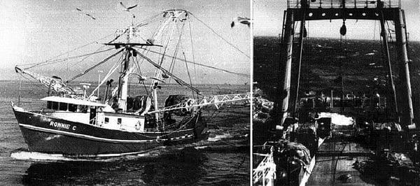 """1. Ещё один канадский траулер. 2. Промысловую палубу промысловых траулеров моряки-рыбаки с любовью называют"""" кормилицей""""."""